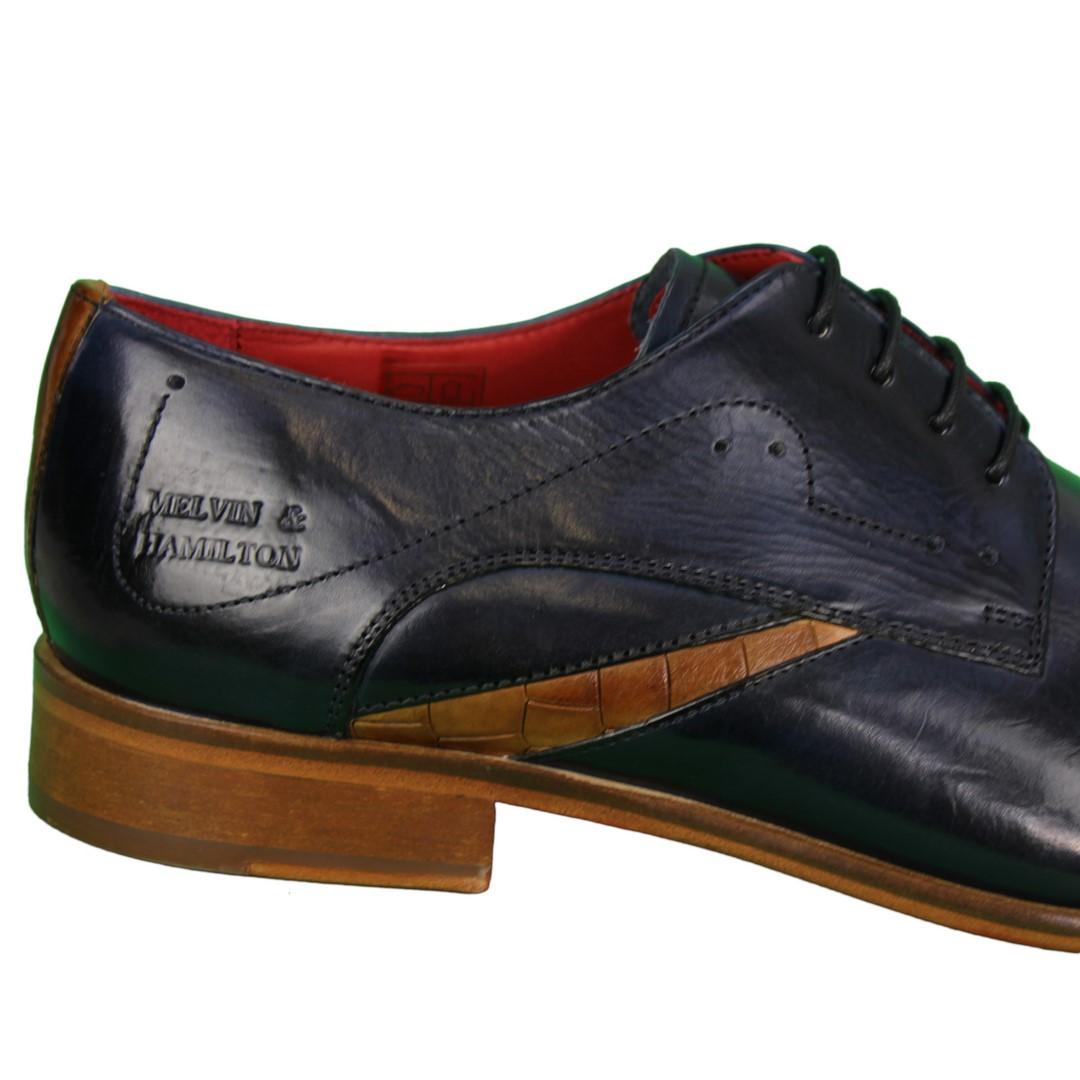 Melvin & Hamilton Herren Halbschuhe Schuhe blau Toni 39 105756 navy cognac