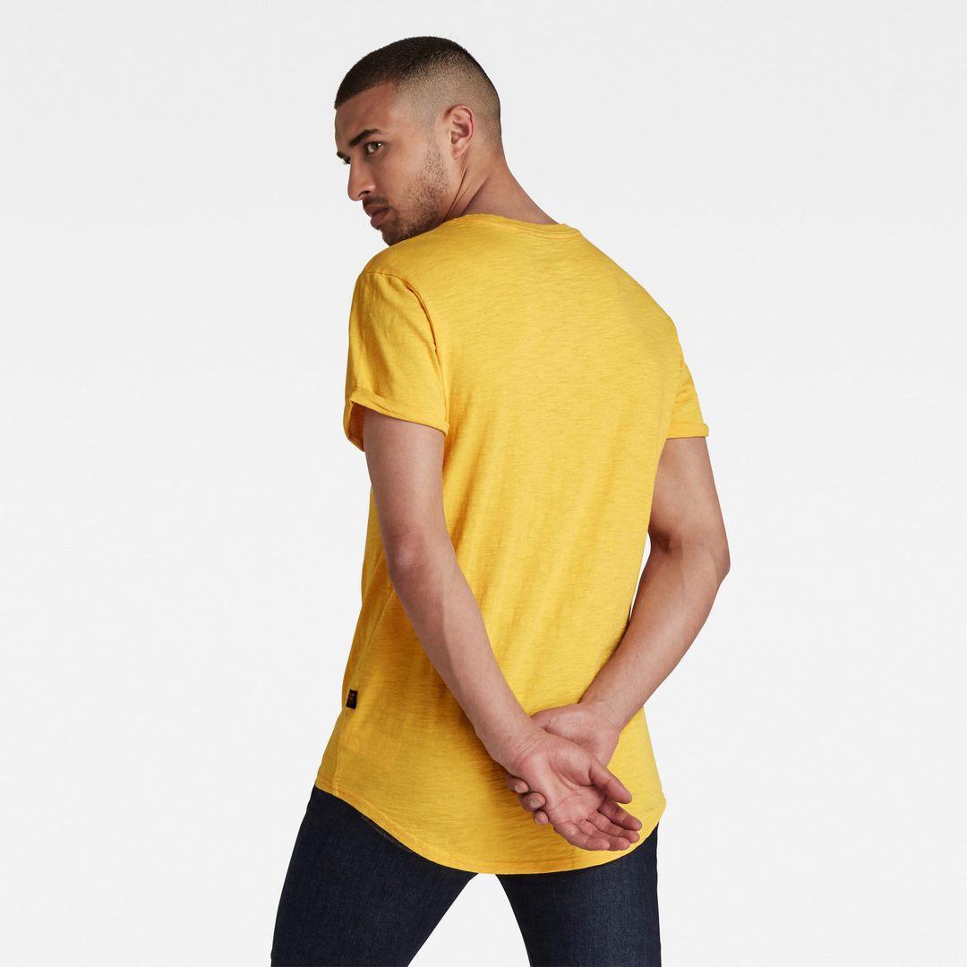 G-Star Raw Herren T-Shirt Shirt kurzarm Lash Round Neck gelb unifarben D16396 C372 C500