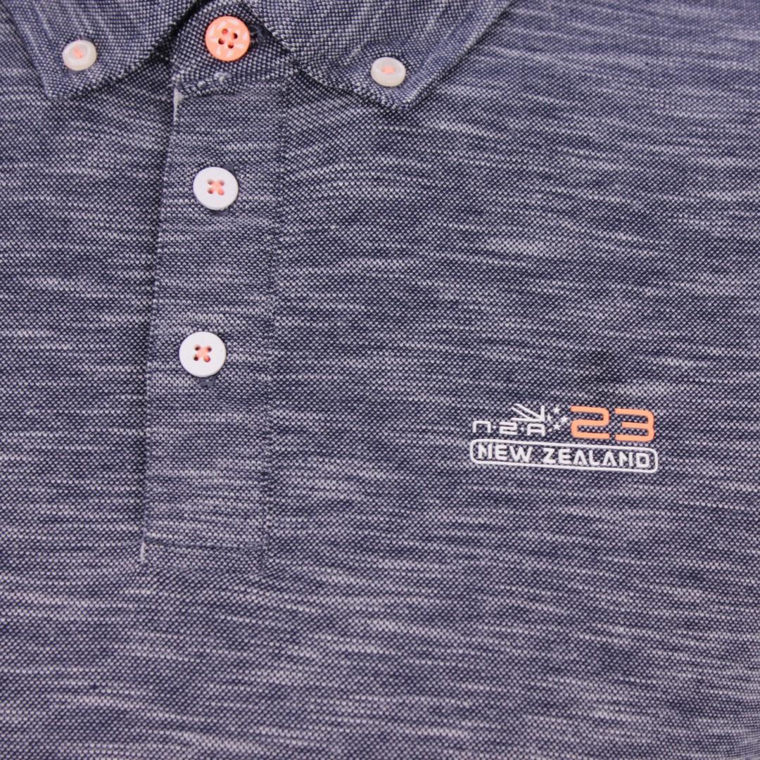 New Zealand Auckland NZA Polo Shirt blau meliert 20CN127 269 navy