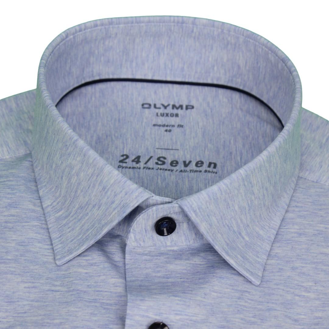 Olymp Hemd 24/Seven Seven Dynamic Flex Jersey All Time Shirt blau 200864 11