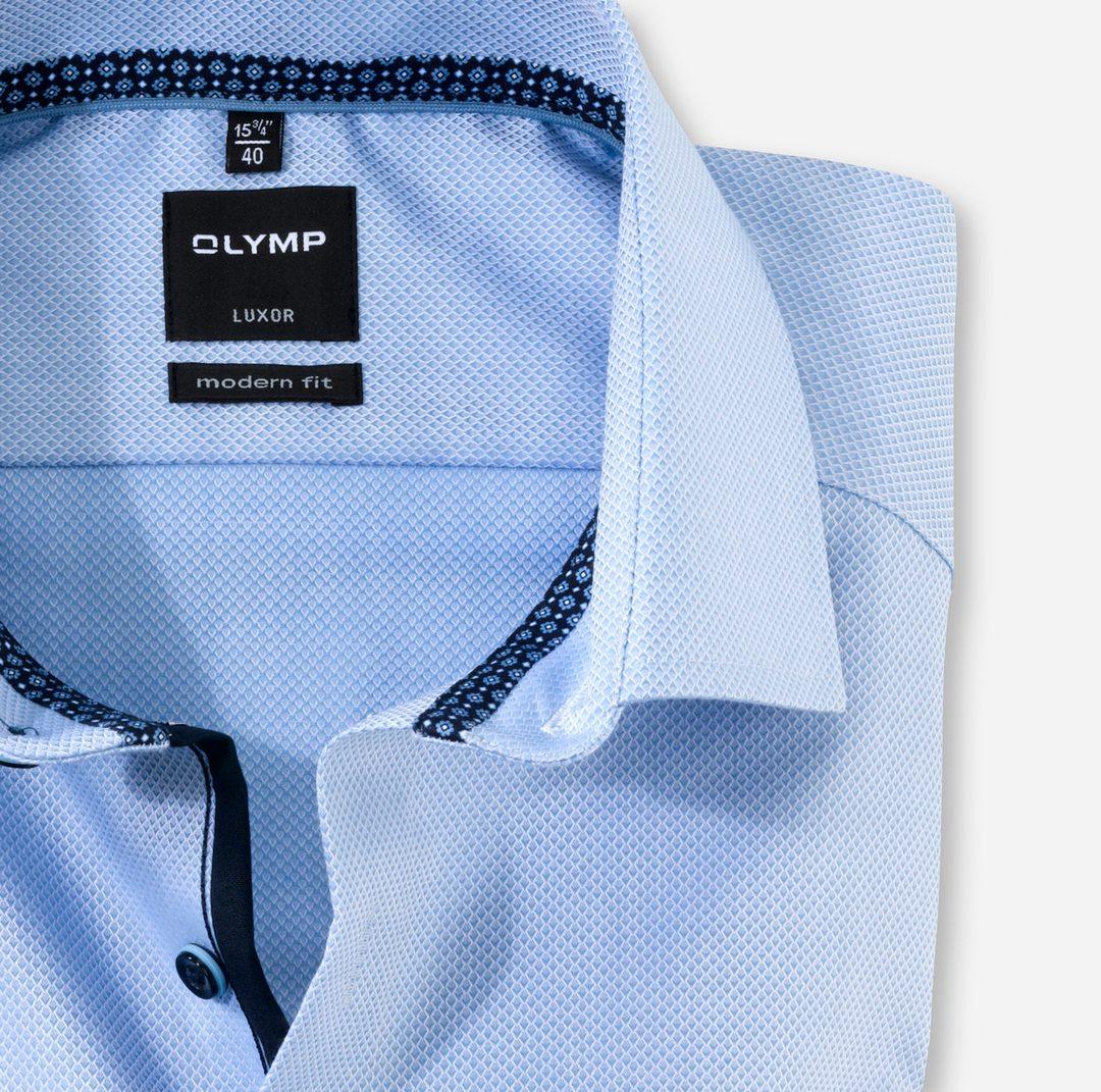 Olymp Luxor Modern Fit Business Hemd blau unifarben 126274 11