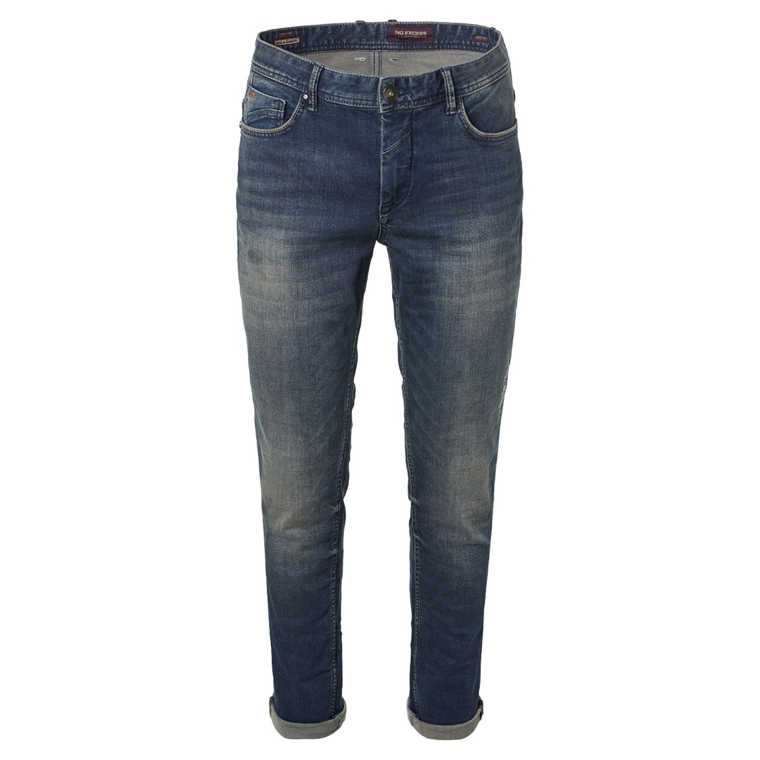 No Excess Jeans Hose Jeanshose Slim Fit 711 Stretch Stone Washed Denim N711D41ND D41