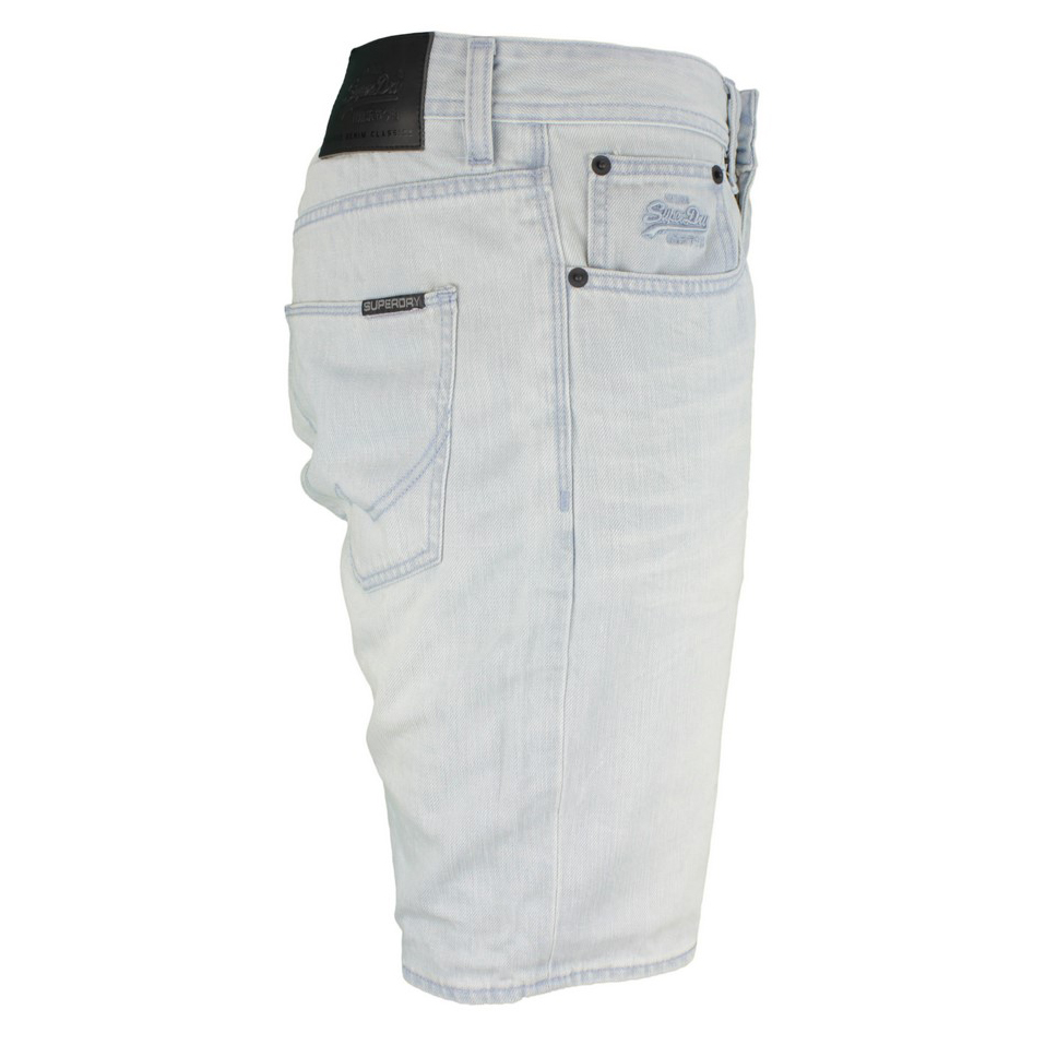 Superdry Herren Jeans Short Officer Bleached blue M71901JO B45