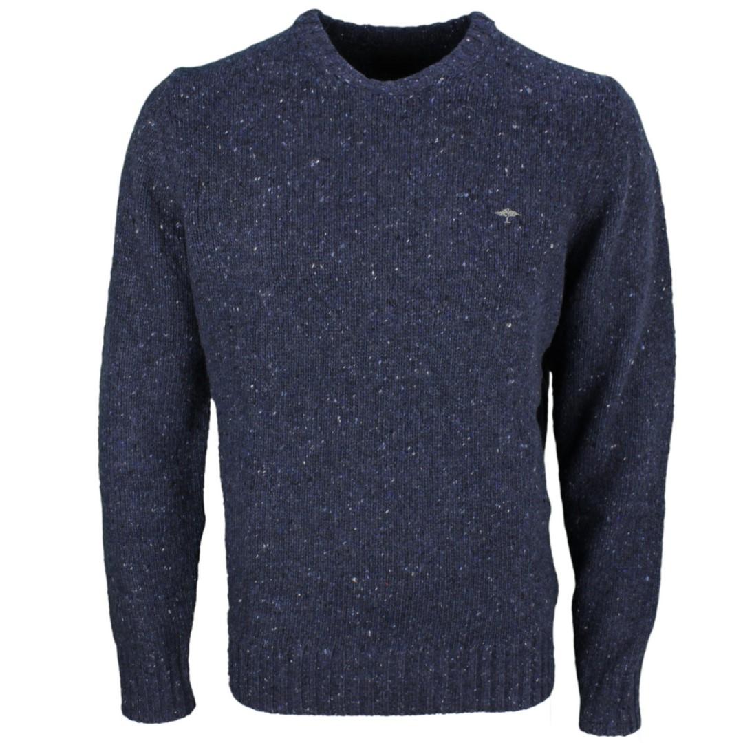 Fynch Hatton Strick Pullover dunkel blau meliert 1220400 639 dune
