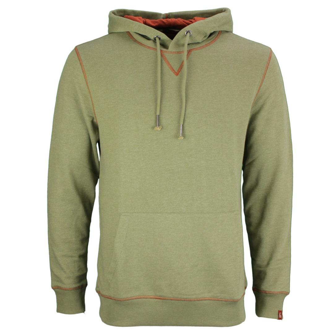 Colours & Sons Herren Sweatshirt Kapuzenpullover Hoodie 9221 443 799 Olive grün