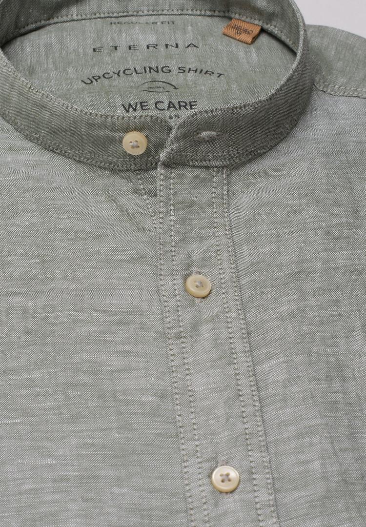 Eterna Leinen Hemd grün unifarben 2450 VS9S 48