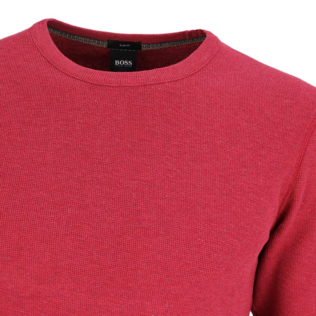 Hugo Boss Langarm Shirt Langarmshirt Strickshirt 50462773 611 Medium Red