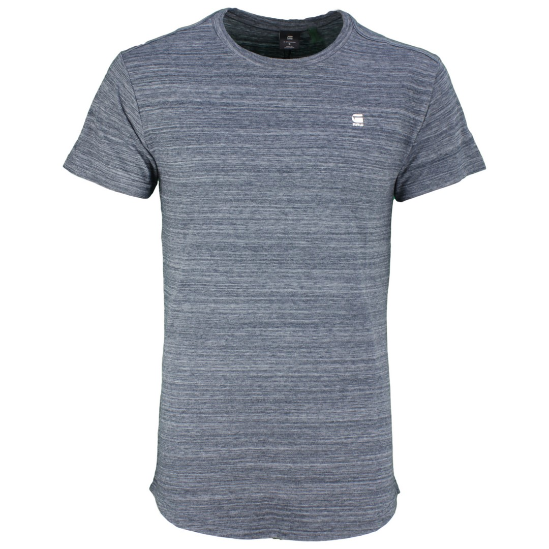 G-Star Raw Herren T-Shirt Starkon blau meliert D15105 B140 862