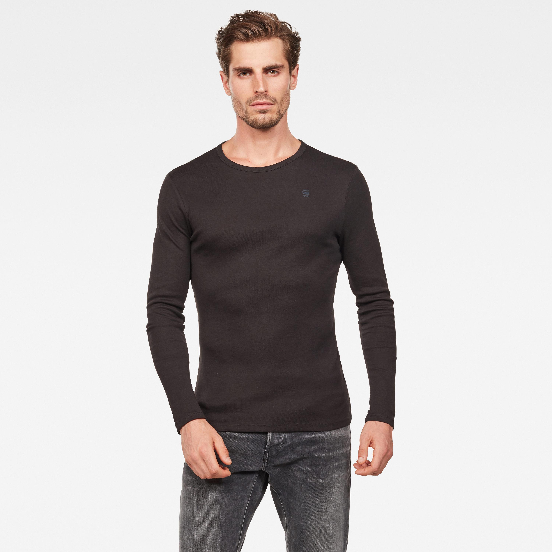G-star Raw round-Neck base crew langarm shirt schwarz D07204 124 990
