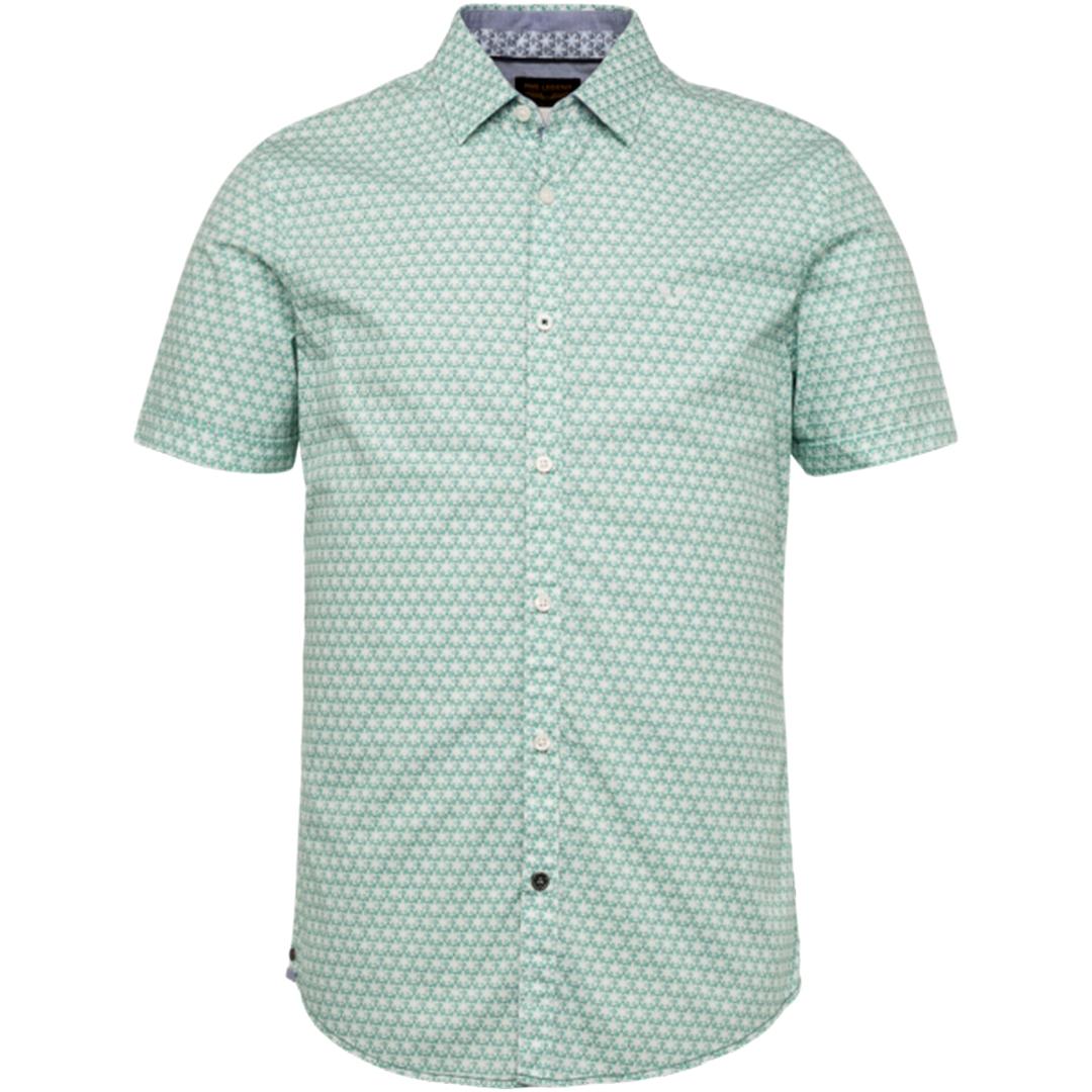 PME Legend Kurzarm Hemd grün gemustert PSIS203225 6113