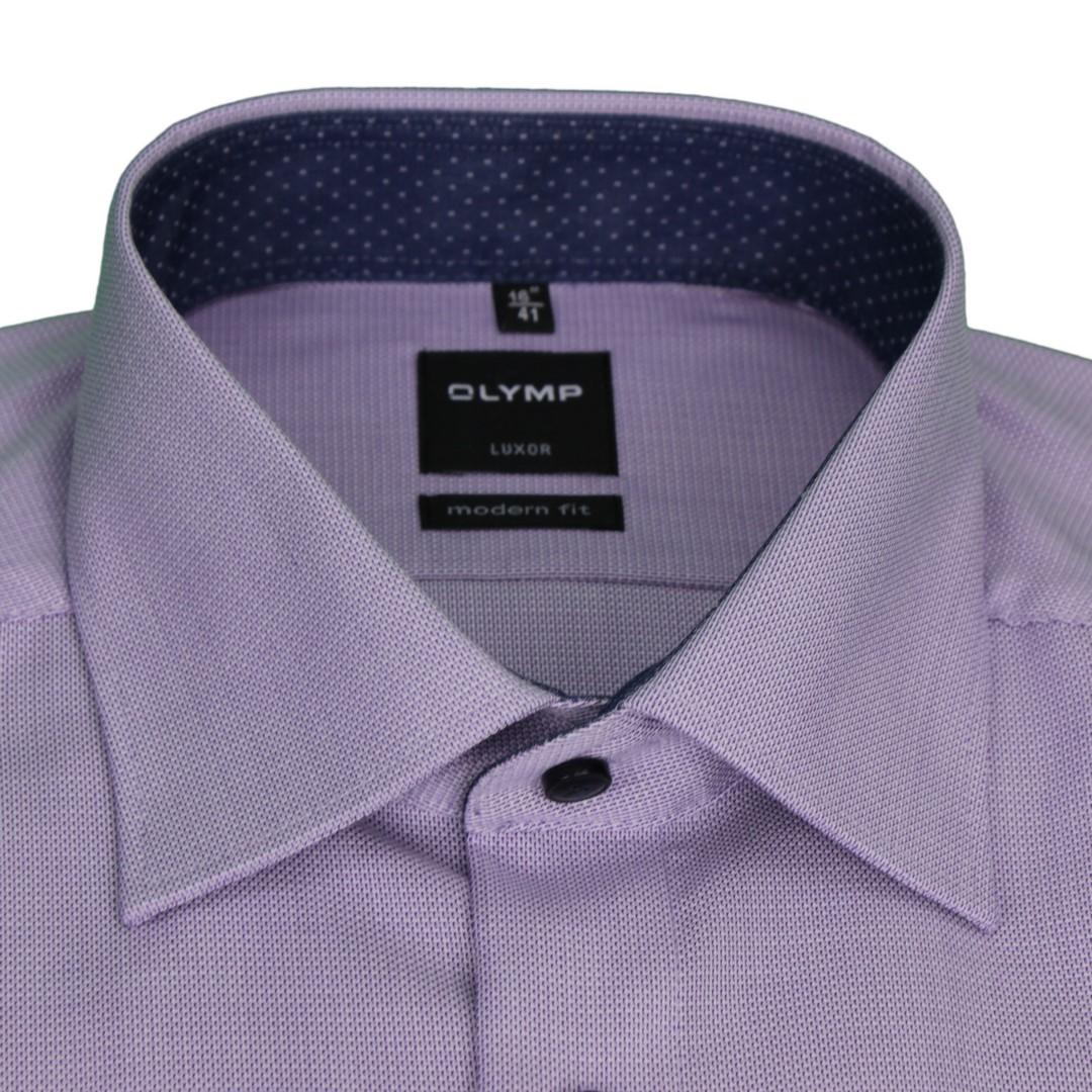 Olymp Herren Luxor Modern Fit Hemd lila unifarben 1268 54 94