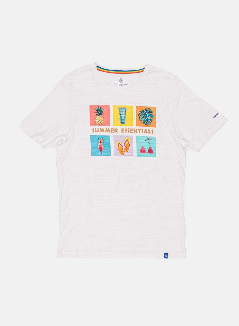 Colours & Sons T-Shirt weiß Druck Summer Essentials 9121 402 049