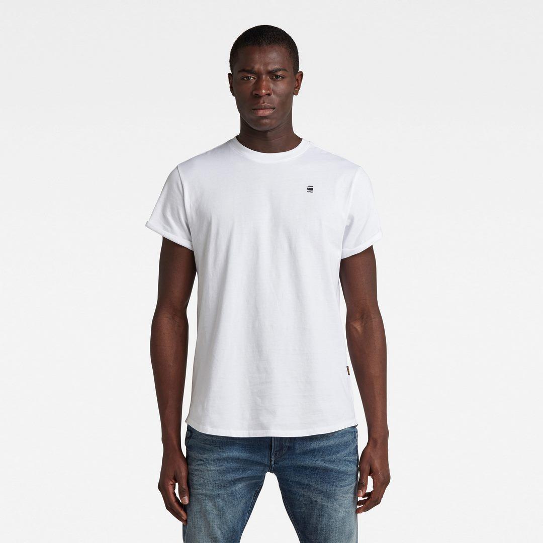 G-Star Raw Herren T-Shirt Lash weiß unifarben D16396 B353 110