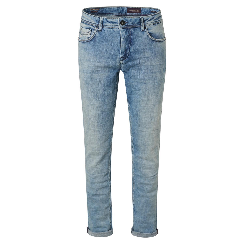 No Excess Herren Jeans Hose Jeanshose Bleached Washed 711 Bleached Denim N711D68 bleach