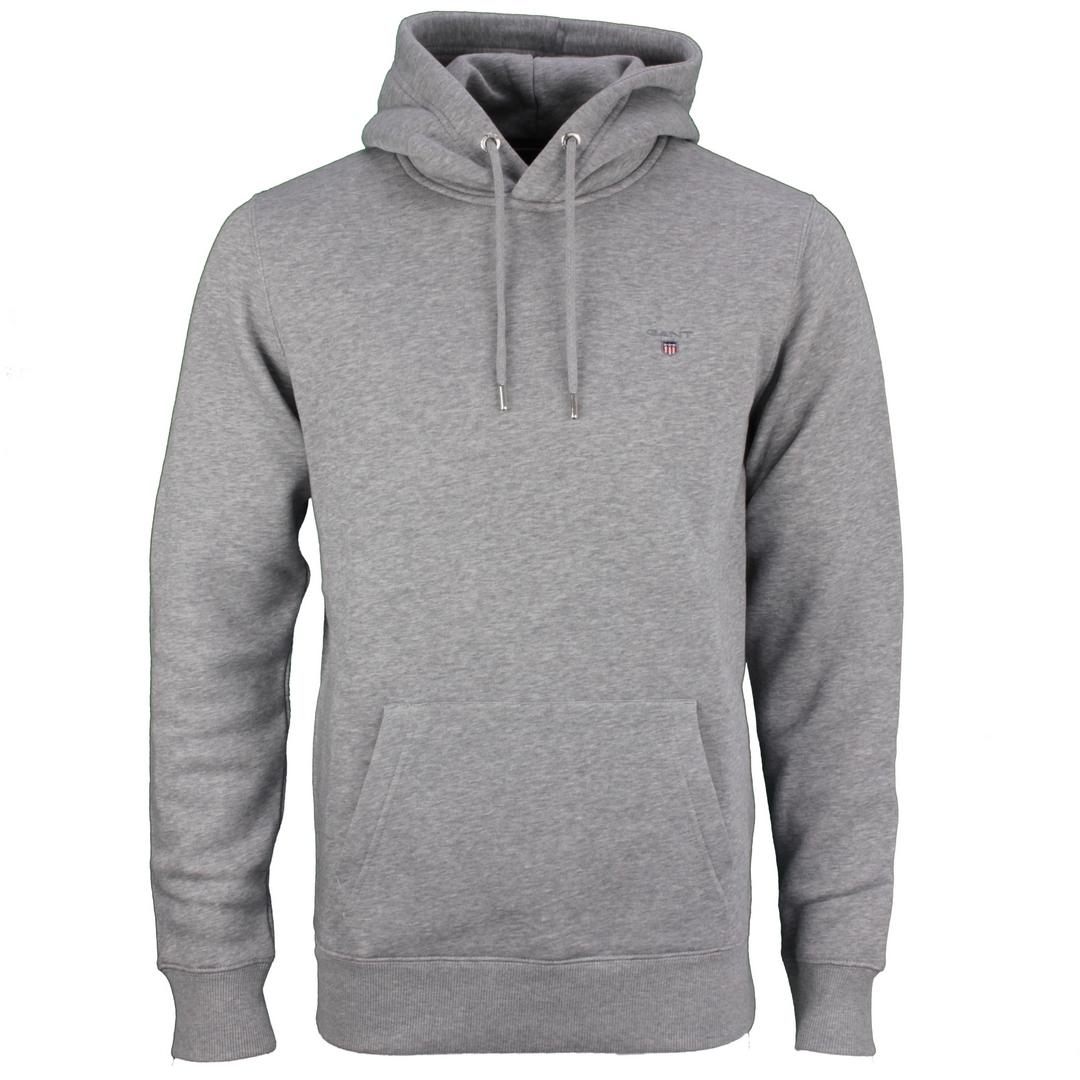 Gant Kapuzen Pullover Kapuzenpullover Original Sweat Hoodie grau 2047017 93 Grey Melange
