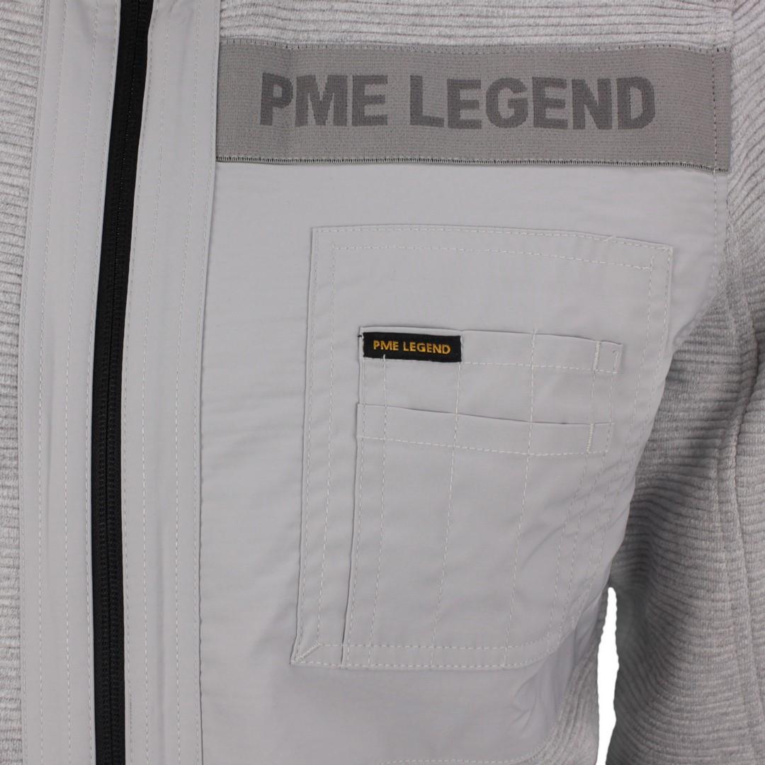 PME Legend Herren Sweat Jacke Ottoman Sweat grau strukturiert PSW211403 960
