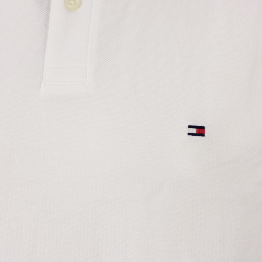 Tommy Hilfiger 1985 Regular Polo Shirt weiß unifarben MW0MW17770 YBR White