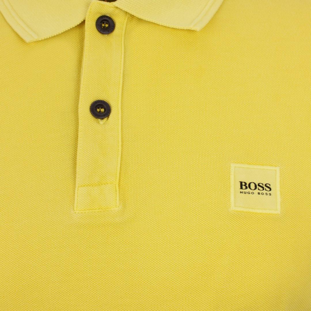 Hugo BOSS Herren Polo Shirt gelb Piqué unifarben Prime 50378365 736
