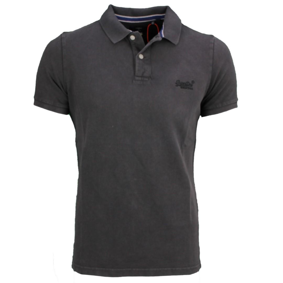 Superdry Herren Polo Shirt Vintage Destroy Polo schwarz M1110014A 06A black