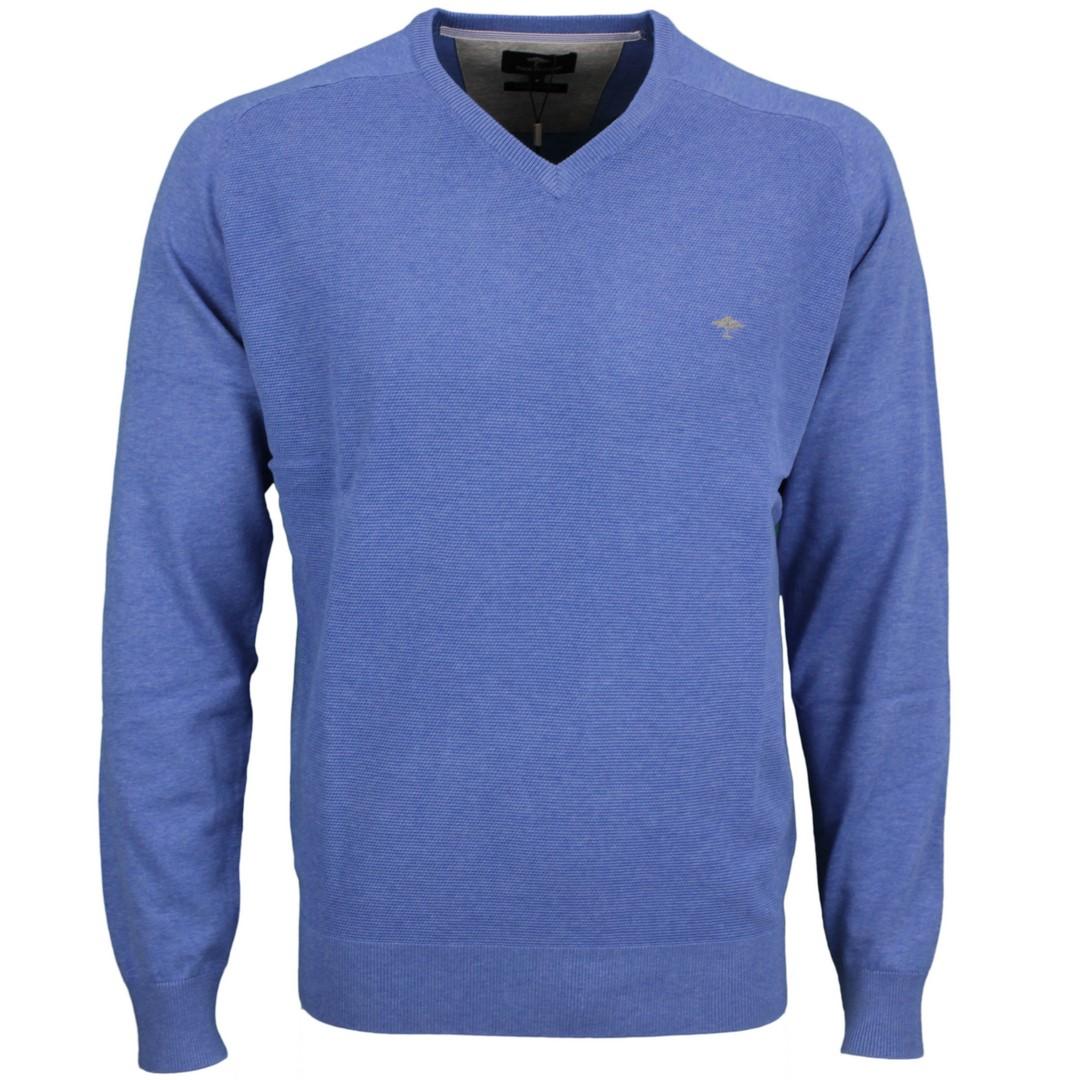 Fynch Hatton Herren Strick Pullover blau strukturiert 1121256 641 Sailor