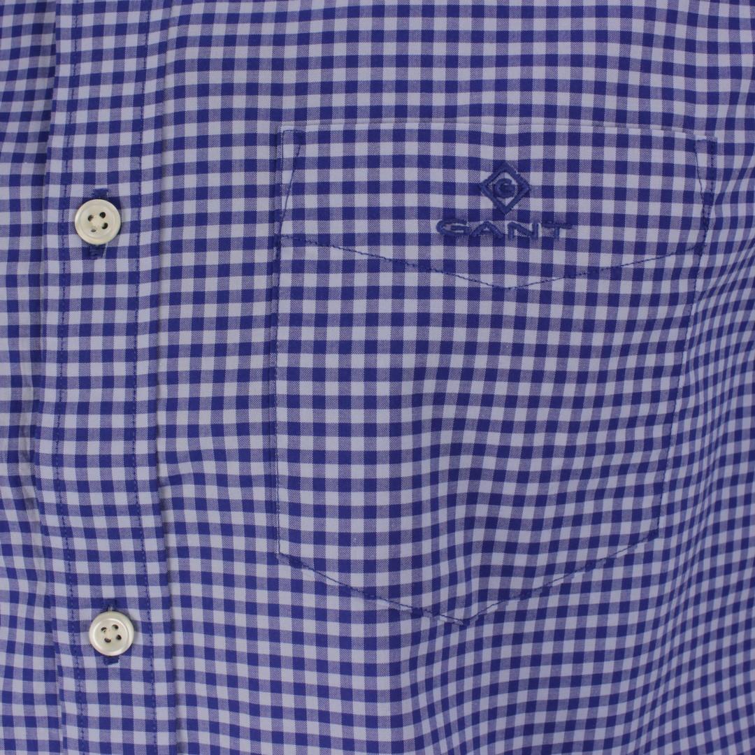 Gant Freizeit Hemd Gingham blau kariert 3064000 436 College blue
