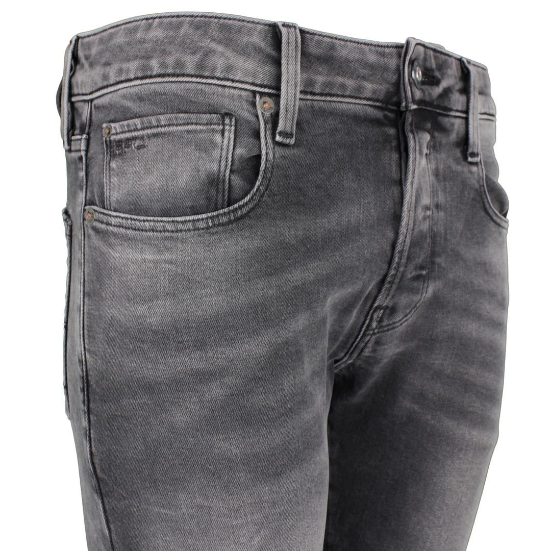 G-Star Raw Herren Jeans Hose Jeanshose 3301 Slim Fit grau Denim 51001 B479 A800