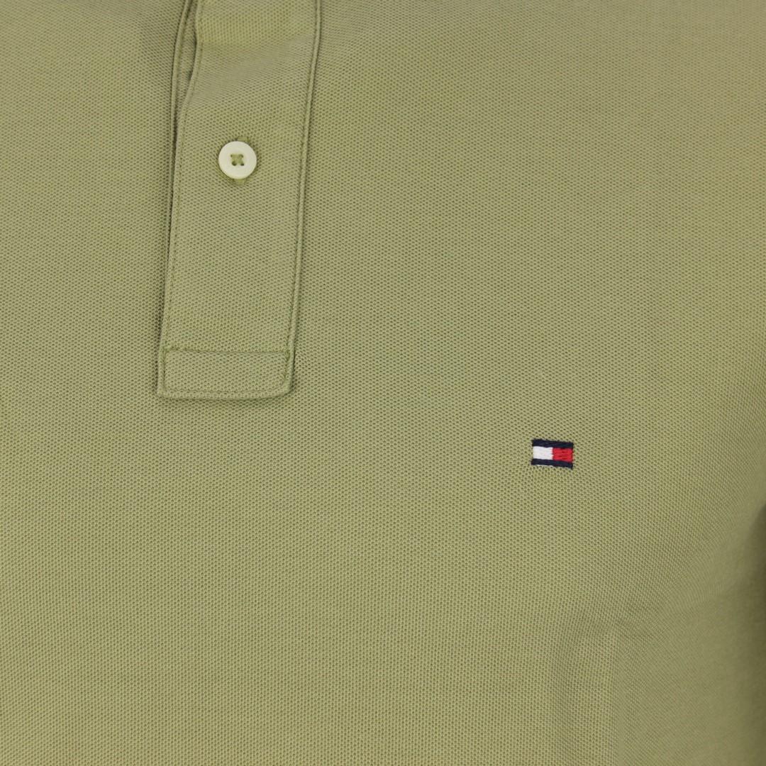 Tommy Hilfiger Herren Polo Shirt Olive grün unifarben MW0MW10766 L9F