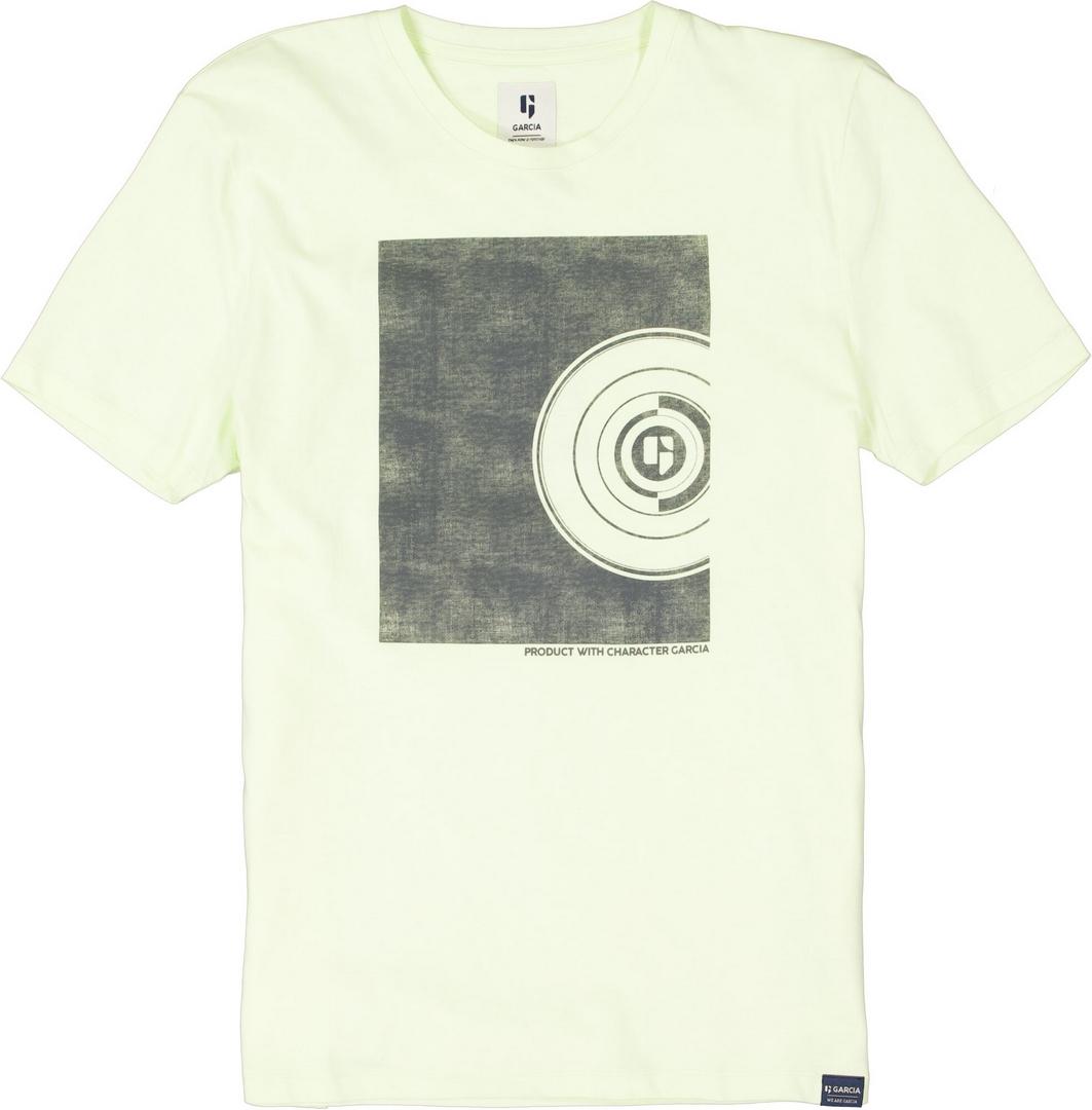 Garcia Herren T-Shirt Shirt kurzarm Print grün schwarz D11201 7513 neon lime