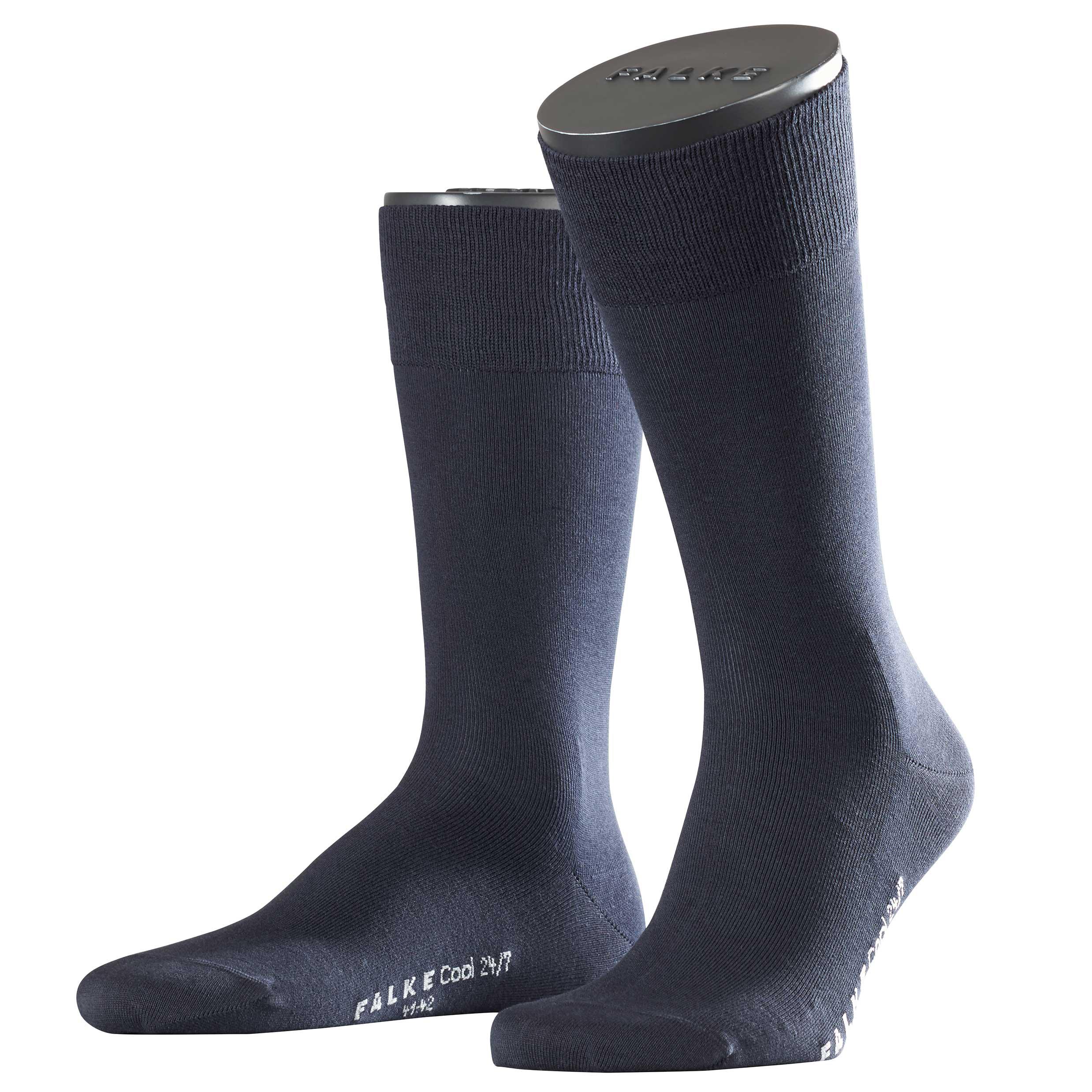 Falke Buisness Socke marine blau 13230 6370 Basic Cool 24/7 Baumwolle