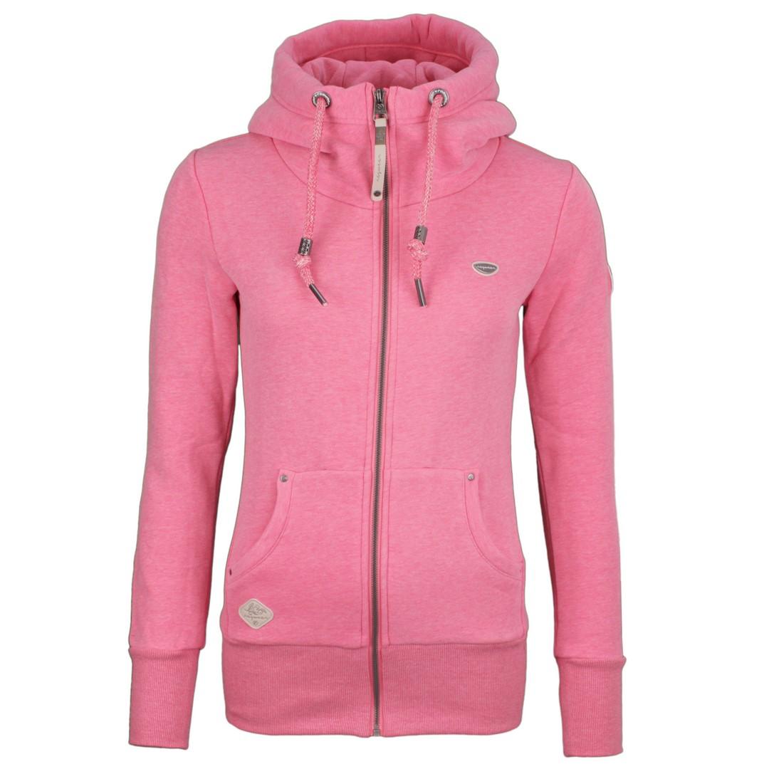 Ragwear Damen Sweat Jacke pink unifarben Neska Zip 2111 30036 4043 Pink