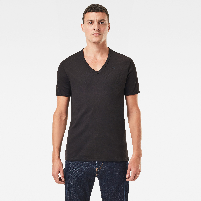 G-Star Raw V Neck Basic Doppelpack V T-Shirt schwarz D07207 124 990