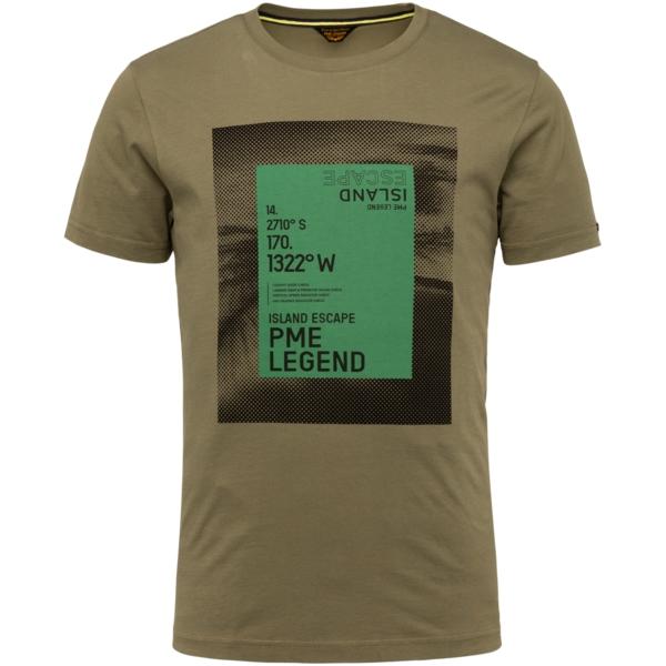 PME Legend T-Shirt Singel Jersey grün PTSS214552 6149