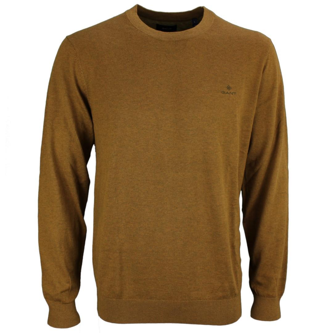 Gant Herren Strick Pullover Cotton Cashmere braun 8050063 389 Butternut melange