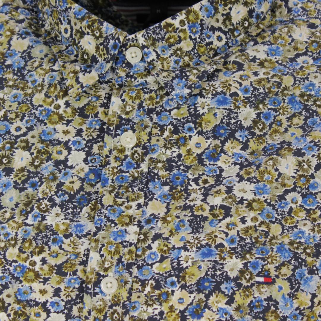 Tommy Hilfiger Herren Hemd Slim Textured Flora mehrfarbig geblümt MW0MW15051 0F4