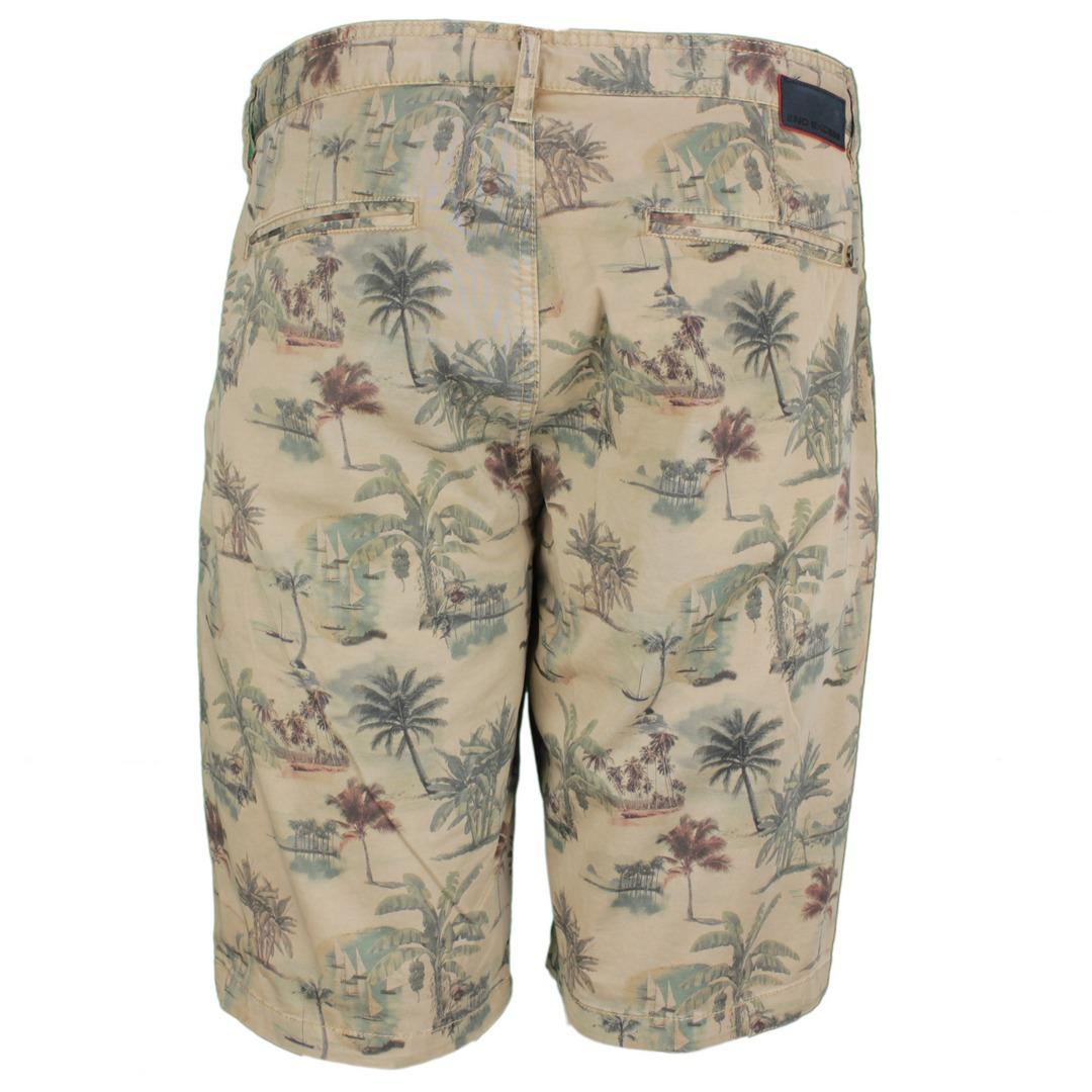 No Excess Herren Short florales Muster 968190412 043 khaki