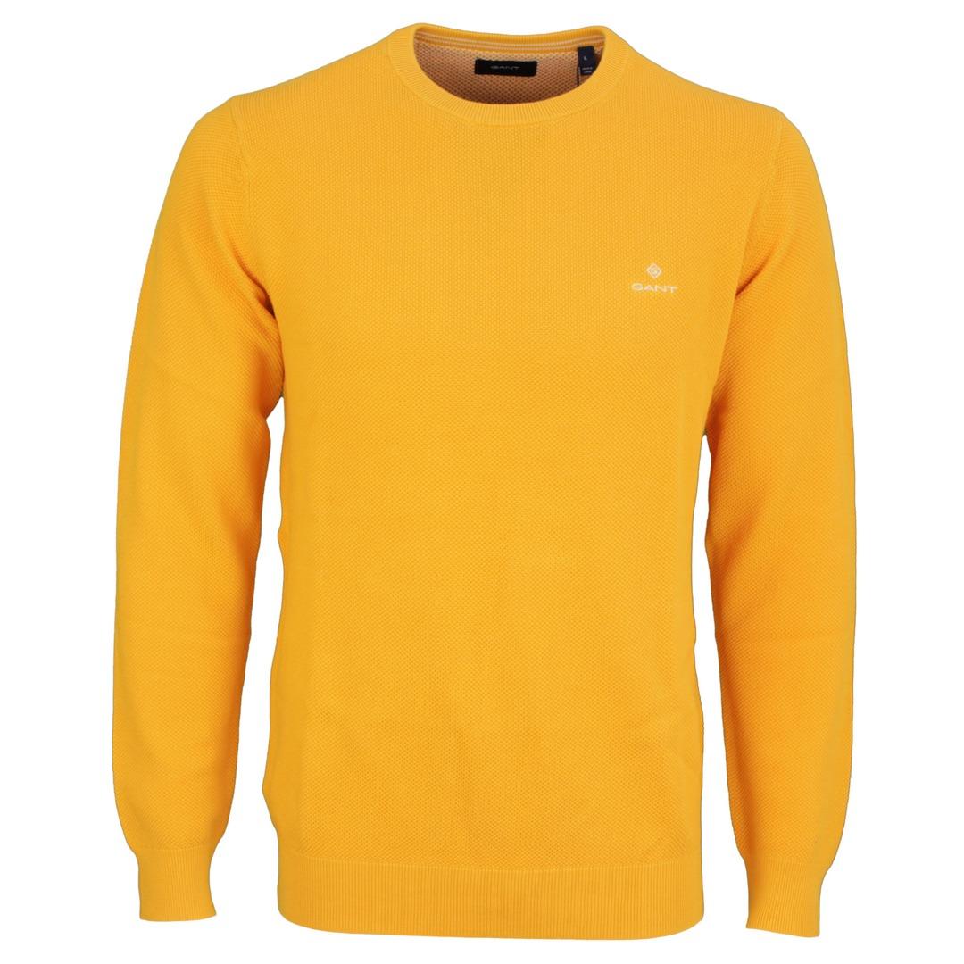 Gant Strick Pullover Strickpullover Cotton Pique gelb 8030521 710 IVY Gold