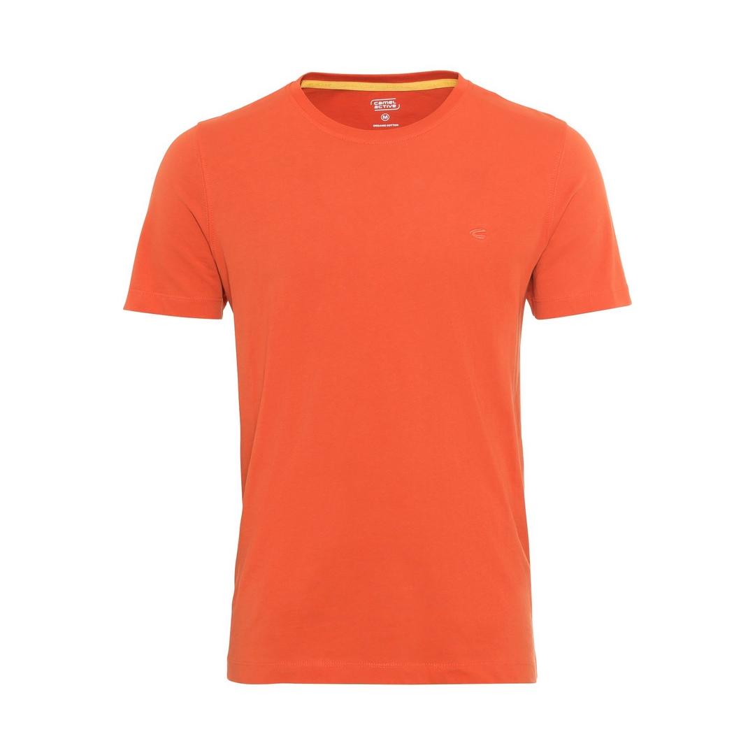 Camel active T-Shirt Shirt Organic Cotton Basic orange unifarben 6T01 409641 31