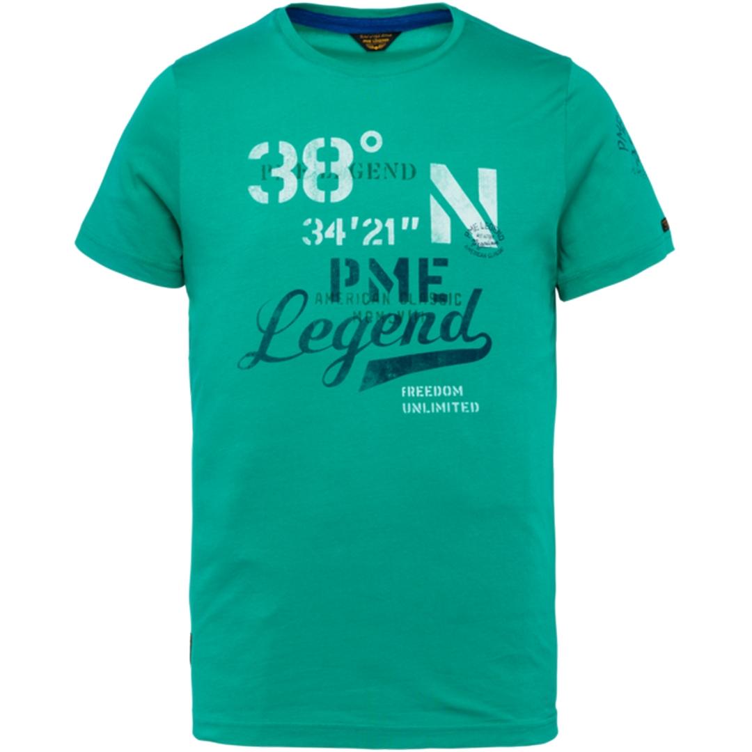 PME Legend Herren T-Shirt grün Single Jersey PTSS203551 6113
