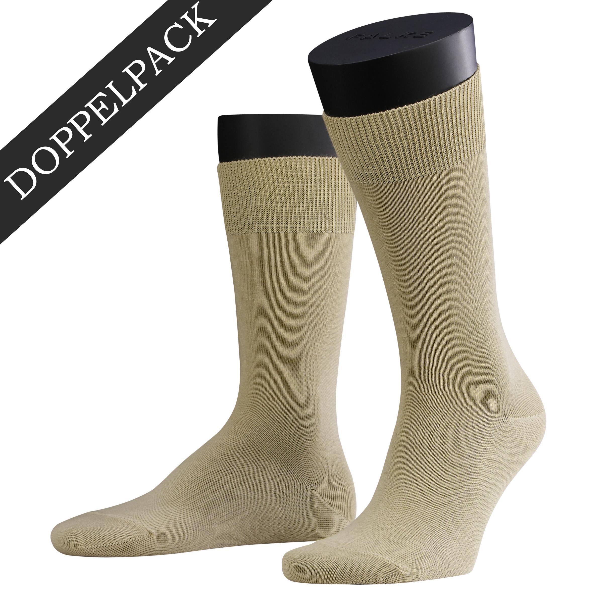 Falke Doppelpack Socke Swing sand beige 14633 - 4320 Basic Baumwolle