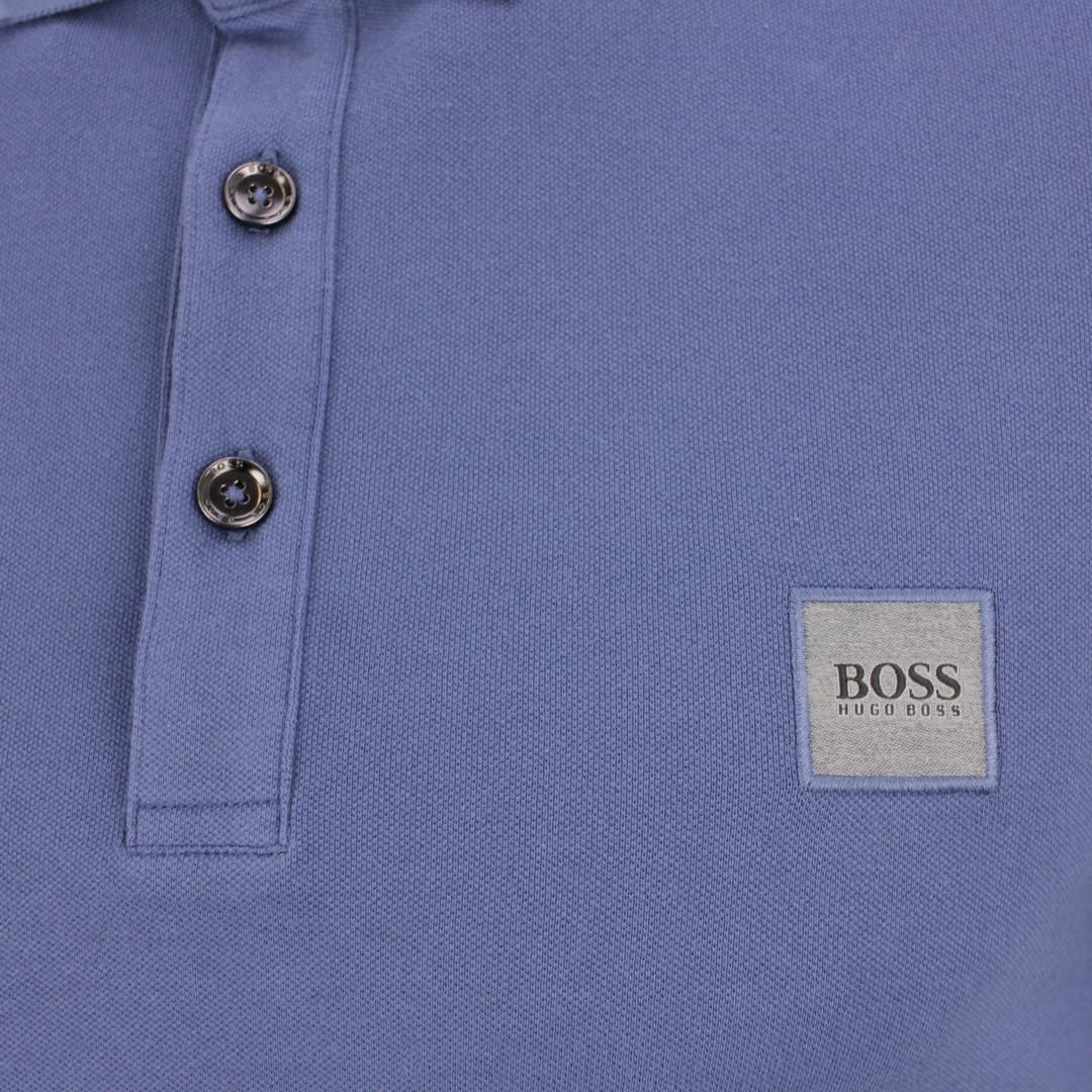Hugo BOSS Herren Polo Shirt blau Piqué unifarben Passenger 50378365 489