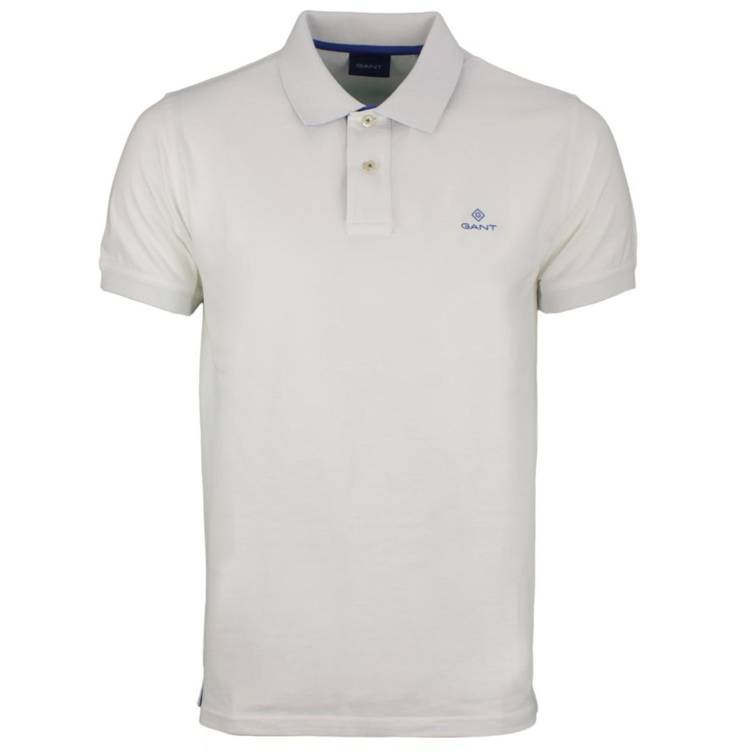 Gant Herren Polo Shirt weiß unifarben 2052003 113