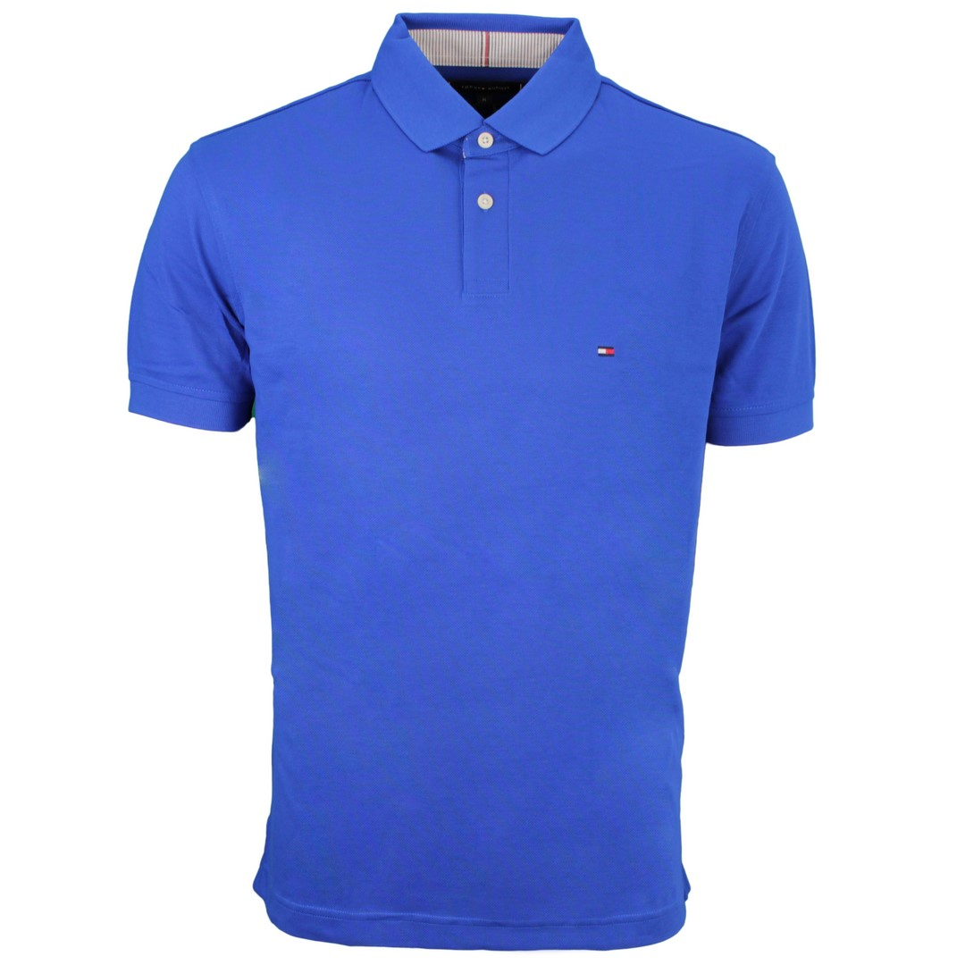 Tommy Hilfiger 1985 Regular Polo Shirt blau unifarben MW0MW17770 D02 Bio Blue