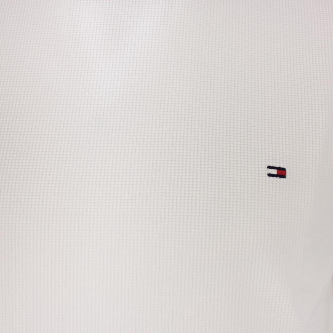 Tommy Hilfiger Strick Pullover weiß strukturiert MW0MW16796 YBR White